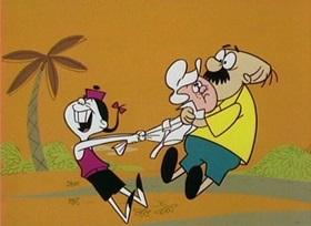 Screenshots from the 1960 UPA cartoon Goo Goo Magoo