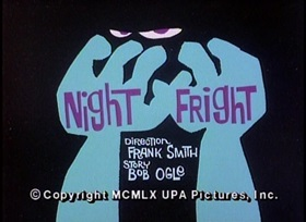 Screenshots from the 1960 UPA cartoon Night Fright