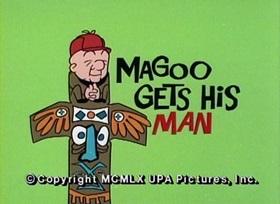 Screenshots from the 1960 UPA cartoon Magoo Gets His Man