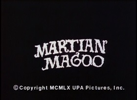 Screenshots from the 1960 UPA cartoon Martian Magoo