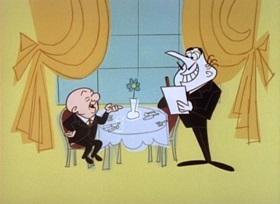 Screenshots from the 1960 UPA cartoon The Reunion