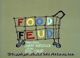 Screenshots from the 1960 UPA cartoon Food Feud