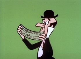 Screenshots from the 1960 UPA cartoon The Billionaire