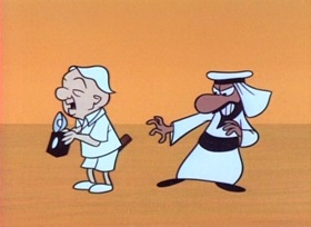 Screenshots from the 1960 UPA cartoon King Tut Magoo