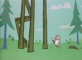 Screenshots from the 1960 UPA cartoon Foxy Magoo