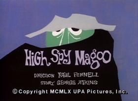 Screenshots from the 1960 UPA cartoon High Spy Magoo