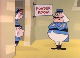 Screenshots from the 1960 UPA cartoon Beau Jest