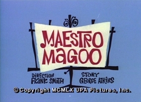 Screenshots from the 1960 UPA cartoon Maestro Magoo