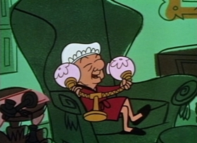 Screenshots from the 1960 UPA cartoon Magoo Meets McBoing Boing
