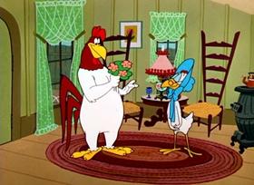 Screenshots from the 1961 Warner Brothers cartoon Strangled Eggs