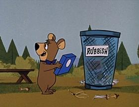 Screenshots from the 1961 Hanna-Barbera cartoon A Bear Pair