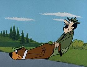 Screenshots from the 1961 Hanna-Barbera cartoon Do or Diet