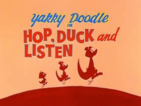 Screenshots from the 1961 Hanna-Barbera cartoon Hop, Duck and Listen