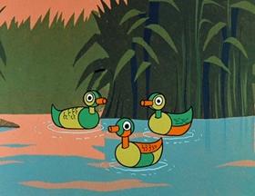 Screenshots from the 1961 Hanna-Barbera cartoon Duck Hunting