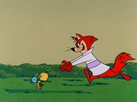 Screenshots from the 1961 Hanna-Barbera cartoon Whistle-Stop and Go