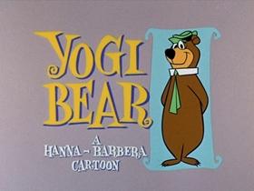 Screenshots from the 1961 Hanna-Barbera cartoon A Bear Living