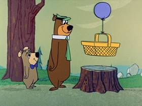 Screenshots from the 1961 Hanna-Barbera cartoon Ring-a-Ding Picnic Basket