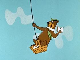 Screenshots from the 1961 Hanna-Barbera cartoon Yogi in the City