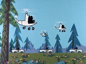 Screenshots from the 1961 Hanna-Barbera cartoon Yogi