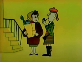 Screenshots from the 1961 Bagdasarian Productions cartoon Comin
