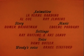Screenshots from the 1961 Walter Lantz cartoon Gabby