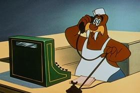 Screenshots from the 1961 Walter Lantz cartoon Clash and Carry