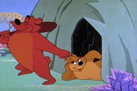 Screenshots from the 1961 Walter Lantz cartoon Bear and the Bees