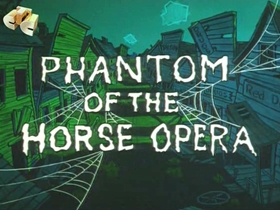 Screenshots from the 1961 Walter Lantz cartoon Phantom of the Horse Opera