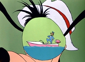 Screenshots from the 1961 Disney cartoon Aquamania
