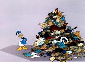 Screenshots from the 1961 Disney cartoon The Litterbug