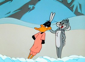 Screenshots from the 1961 Warner Bros. cartoon The Abominable Snow Rabbit