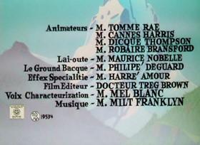 Screenshots from the 1961 Warner Brothers cartoon A Scent of the Matterhorn