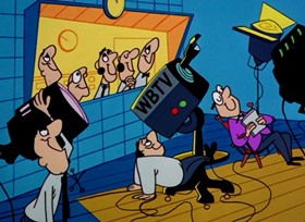 Screenshots from the 1961 Warner Brothers cartoon Nelly