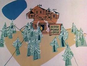 Screenshots from the 1961 Jay Ward Productions cartoon Goldilocks and the Three Bears