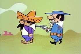 Screenshots from the 1961 Hanna-Barbera cartoon The Mark of El Kabong
