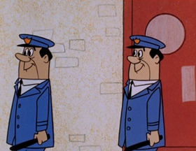 Screenshots from the 1961 Hanna-Barbera cartoon Person to Prison