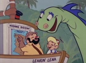 Screenshots from the 1962 Bob Clampett Productions cartoon Spots Off A Leopard