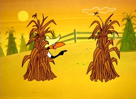 Screenshots from the 1962 Warner Brothers cartoon Crows