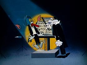 Screenshots from the 1962 MGM cartoon Carmen Get It