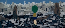 Screenshots from the 1962 Mushi Production cartoon Tales of a Street Corner