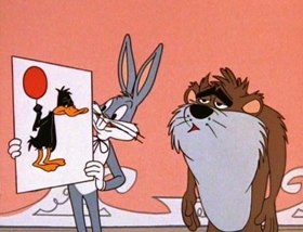 Screenshots from the 1962 Warner Brothers cartoon Do or Diet