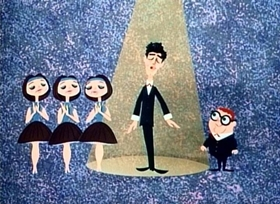 Screenshots from the 1962 Disney cartoon A Symposium on Popular Songs