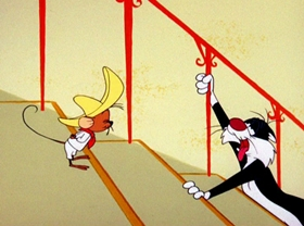 Screenshots from the 1962 Warner Brothers cartoon Mexican Boarders