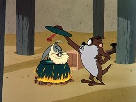 Screenshots from the 1962 Warner Brothers cartoon Bill of Hare