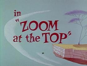 Screenshots from the 1962 Warner Bros. cartoon Zoom at the Top