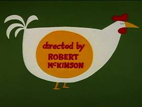 Screenshots from the 1962 Warner Bros. cartoon The Slick Chick