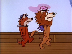 Screenshots from the 1962 Hanna-Barbera cartoon See-Saw