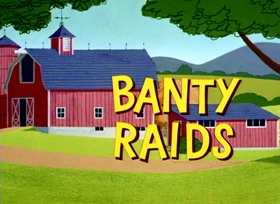 Screenshots from the 1963 Warner Brothers cartoon Banty Raids