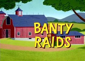 Screenshots from the 1963 Warner Bros. cartoon Banty Raids