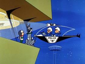 Screenshots from the 1963 Hanna-Barbera cartoon Elroy